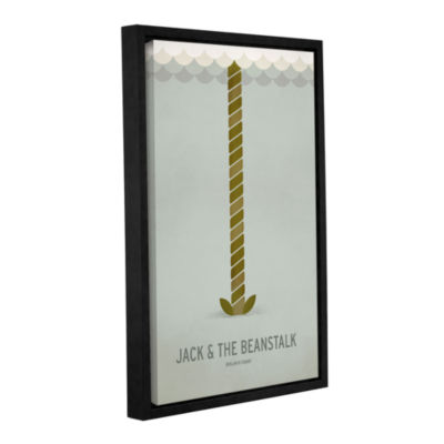 Brushstone Jack and The Beanstalk Gallery WrappedFloater-Framed Canvas Wall Art