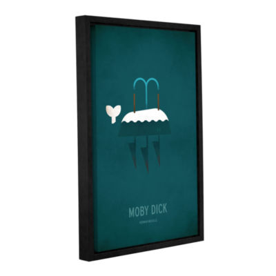 Brushstone Moby Dick Minimal Gallery Wrapped Floater-Framed Canvas Wall Art