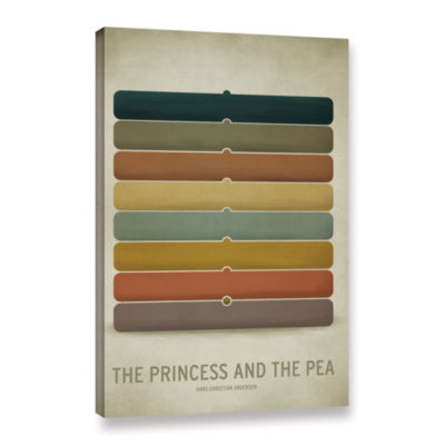 Brushstone Princess Pea Gallery Wrapped Canvas Wall Art