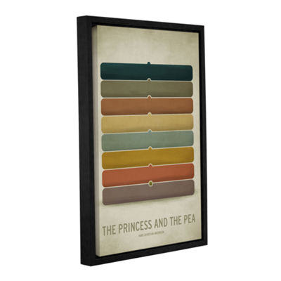 Brushstone Princess Pea Gallery Wrapped Floater-Framed Canvas Wall Art