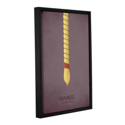 Brushstone Rapunzel Gallery Wrapped Floater-FramedCanvas Wall Art