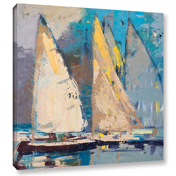 Brushstone Breeze Sail And Sky Gallery Wrapped Canvas Wall Art