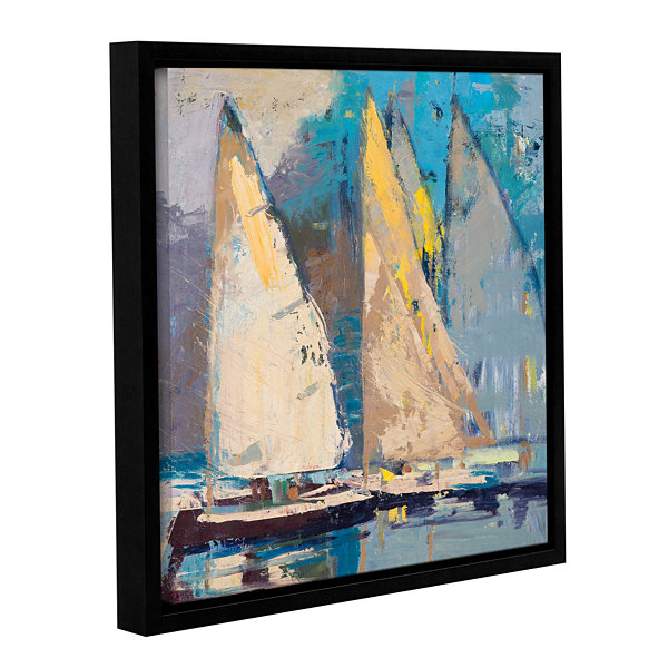 Brushstone Breeze Sail And Sky Gallery Wrapped Floater-Framed Canvas Wall Art