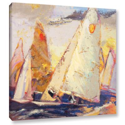 Brushstone Caramel Wind Gallery Wrapped Canvas Wall Art