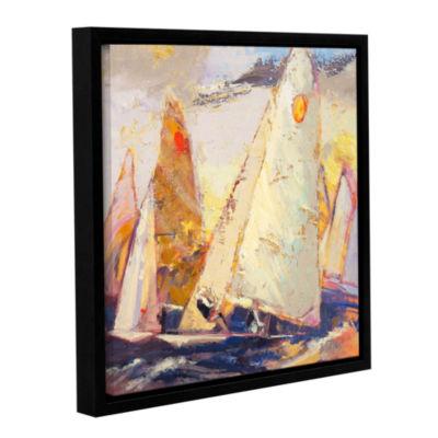 Brushstone Caramel Wind Gallery Wrapped Floater-Framed Canvas Wall Art