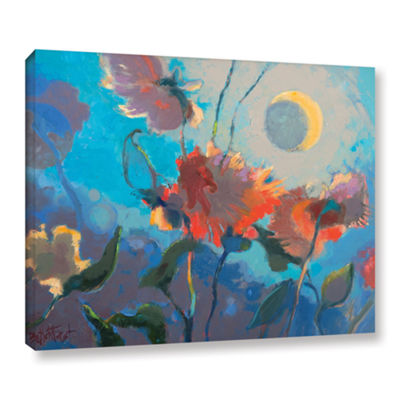 Brushstone Dahlia Moonglow Gallery Wrapped CanvasWall Art