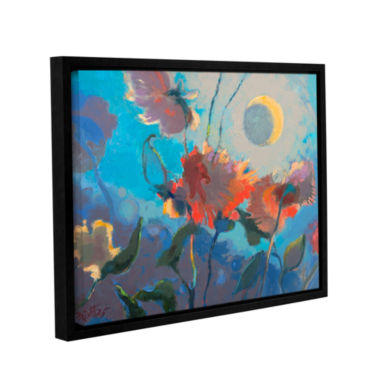 Brushstone Dahlia Moonglow Gallery Wrapped Floater-Framed Canvas Wall Art
