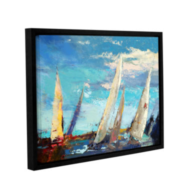 Brushstone Magnificence Gallery Wrapped Floater-Framed Canvas Wall Art