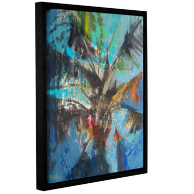 Brushstone Palm Sunday Gallery Wrapped Floater-Framed Canvas Wall Art