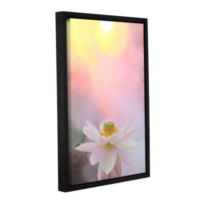 Brushstone Beauty At Dawn Gallery Wrapped Floater-Framed Canvas Wall Art