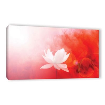 Brushstone Lotus In Flames Gallery Wrapped CanvasWall Art
