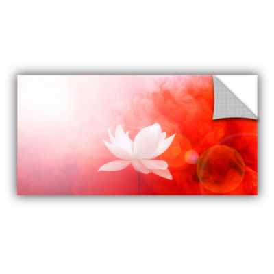 Brushstone Lotus In Flames Removable Wall Decal