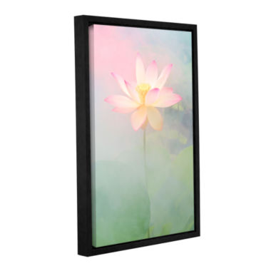 Brushstone Pink Passion Gallery Wrapped Floater-Framed Canvas Wall Art