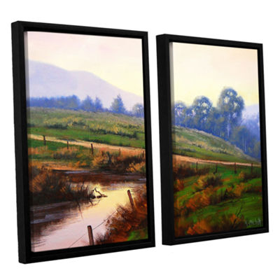 Brushstone Afternoon Glow 2-pc. Floater Framed Canvas Wall Art