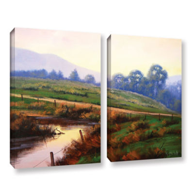 Brushstone Afternoon Glow 2-pc. Gallery Wrapped Canvas Wall Art