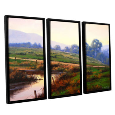 Brushstone Afternoon Glow 3-pc. Floater Framed Canvas Wall Art