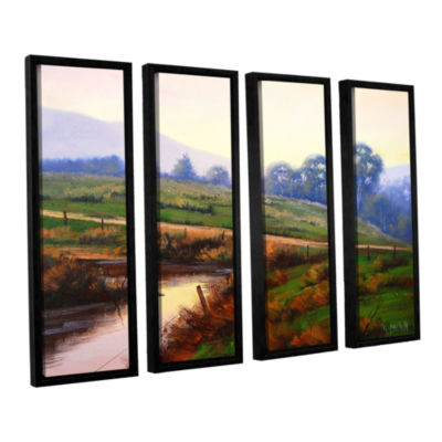 Brushstone Afternoon Glow 4-pc. Floater Framed Canvas Wall Art