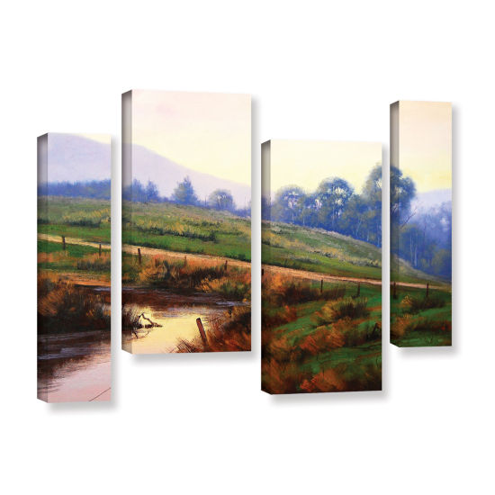 Brushstone Afternoon Glow 4-pc. Gallery Wrapped Staggered Canvas Wall Art