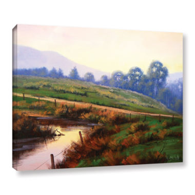 Brushstone Afternoon Glow Gallery Wrapped Canvas Wall Art