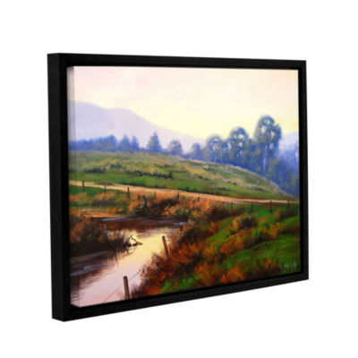 Brushstone Afternoon Glow Gallery Wrapped Floater-Framed Canvas Wall Art