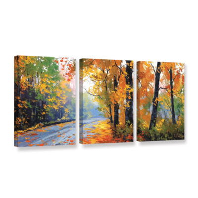 Brushstone Autumn Backlight 3-pc. Gallery WrappedCanvas Wall Art