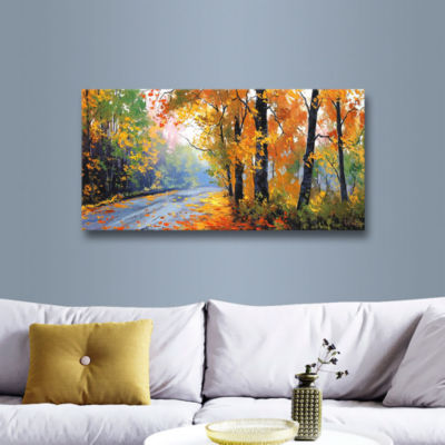Brushstone Autumn Backlight Gallery Wrapped CanvasWall Art