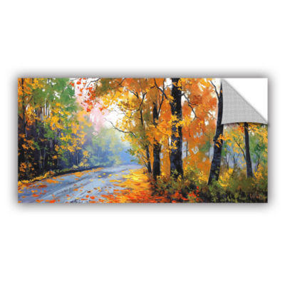 Brushstone Autumn Backlight Removable Wall Decal