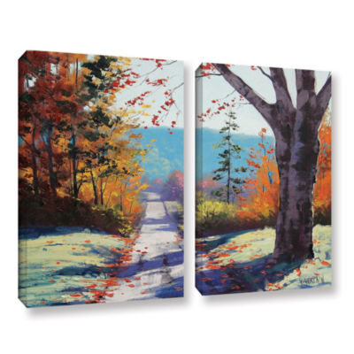 Brushstone Autumn Delight 2-pc. Gallery Wrapped Canvas Wall Art