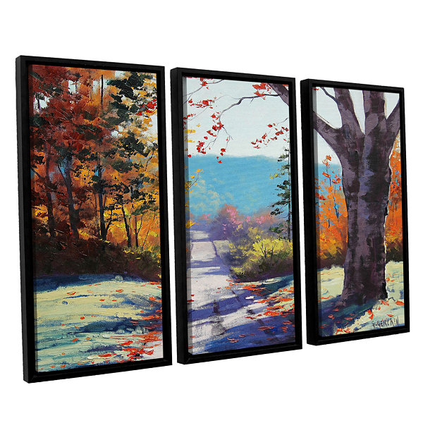 Brushstone Autumn Delight 3-pc. Floater Framed Canvas Wall Art