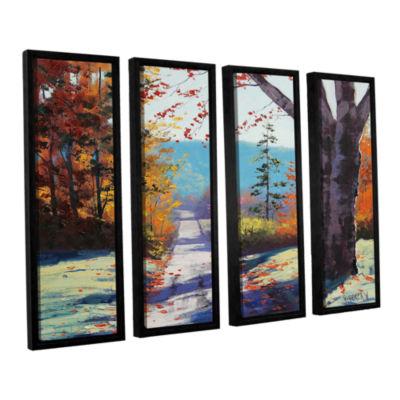 Brushstone Autumn Delight 4-pc. Floater Framed Canvas Wall Art