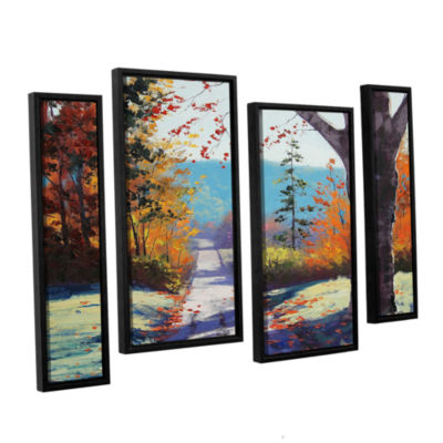 Brushstone Autumn Delight 4-pc. Floater Framed Staggered Canvas Wall Art