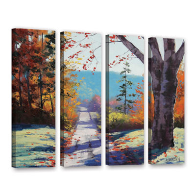 Brushstone Autumn Delight 4-pc. Gallery Wrapped Canvas Wall Art