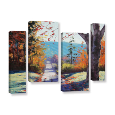 Brushstone Autumn Delight 4-pc. Gallery Wrapped Staggered Canvas Wall Art
