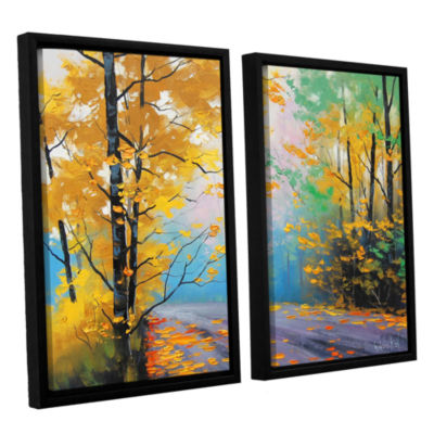 Brushstone Misty Autumn Day 2-pc. Floater Framed Canvas Wall Art