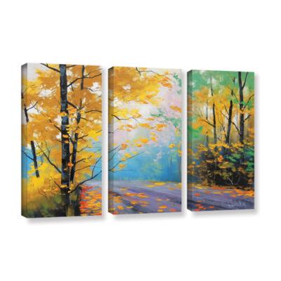 Brushstone Misty Autumn Day 3-pc. Gallery WrappedCanvas Wall Art