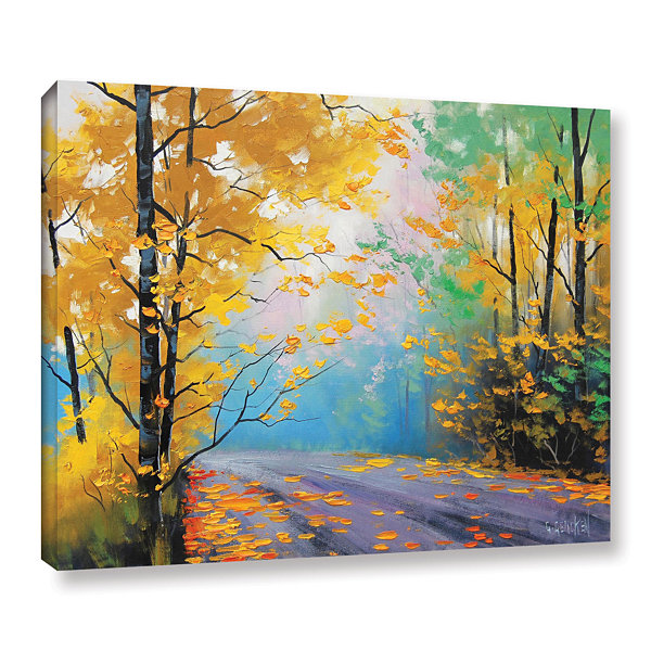 Brushstone Misty Autumn Day Gallery Wrapped CanvasWall Art