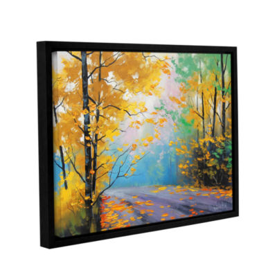 Brushstone Misty Autumn Day Gallery Wrapped Floater-Framed Canvas Wall Art