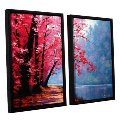 Brushstone River Bend 2-pc. Floater Framed CanvasWall Art