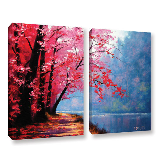 Brushstone River Bend 2-pc. Gallery Wrapped CanvasWall Art
