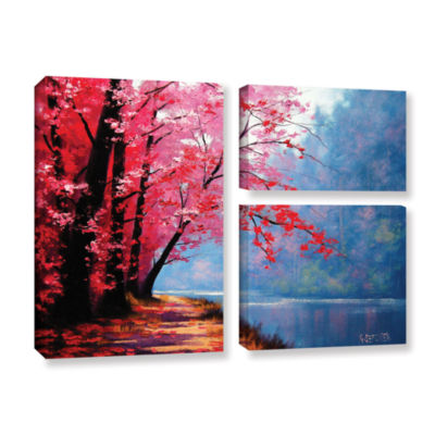 Brushstone River Bend 3-pc. Flag Gallery Wrapped Canvas Wall Art