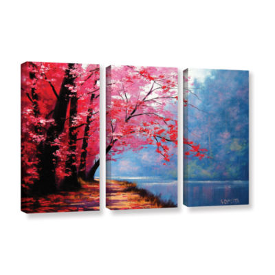 Brushstone River Bend 3-pc. Gallery Wrapped CanvasWall Art
