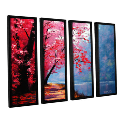Brushstone River Bend 4-pc. Floater Framed CanvasWall Art