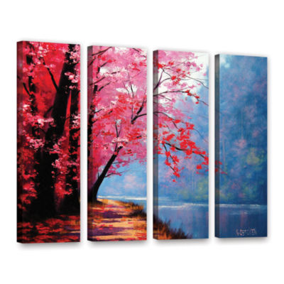 Brushstone River Bend 4-pc. Gallery Wrapped CanvasWall Art