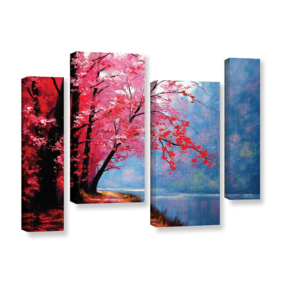 Brushstone River Bend 4-pc. Gallery Wrapped Staggered Canvas Wall Art