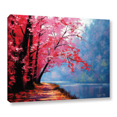 Brushstone River Bend Gallery Wrapped Canvas WallArt