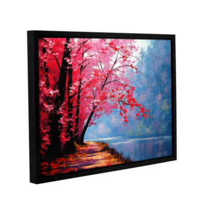 Brushstone River Bend Gallery Wrapped Floater-Framed Canvas Wall Art