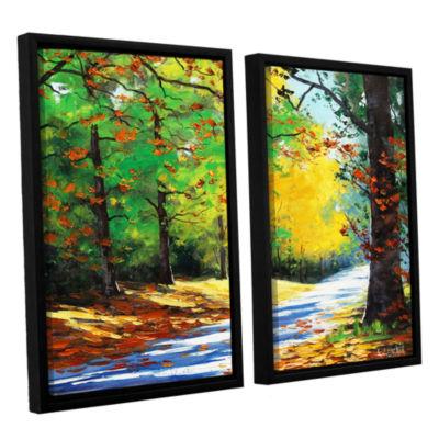 Brushstone Vibrant Autumn 2-pc. Floater Framed Canvas Wall Art