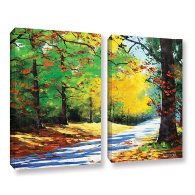 Brushstone Vibrant Autumn 2-pc. Gallery Wrapped Canvas Wall Art