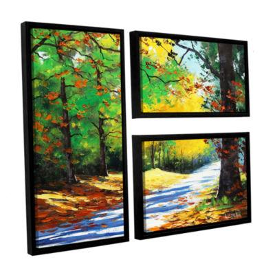 Brushstone Vibrant Autumn 3-pc. Flag Floater Framed Canvas Wall Art