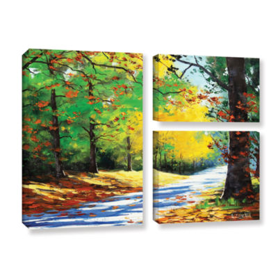 Brushstone Vibrant Autumn 3-pc. Flag Gallery Wrapped Canvas Wall Art